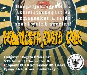 **SATURDAY** feminist.party.come